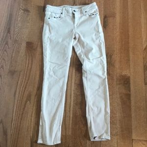 Vince peach colored skinny jeans